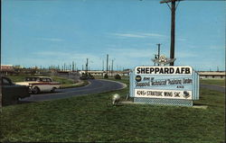 Entrance to Sheppard Air Force Base Postcard