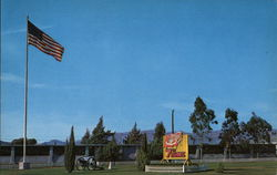 Old Glory Flying Proudly Over Camp Las Pulgas Postcard