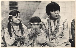 Pow Wow Time. Indian Children, Mesquakie Indian Settlement