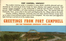 Greetings from Fort Campbell Postcard