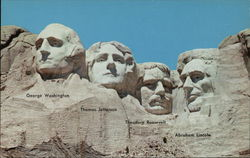 Mt. Rushmore National Memorial Postcard