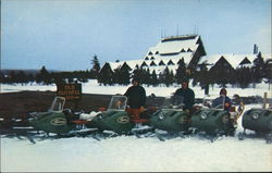 Wintertime at Old Faithful Inn