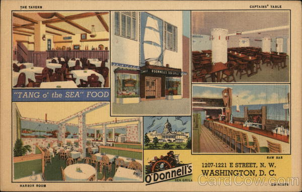 O'Donnell's Sea Grill, 1207-1221 E. Street, Northwest Washington District of Columbia