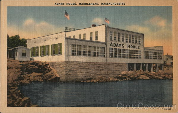 Water View of Adams House Marblehead Massachusetts