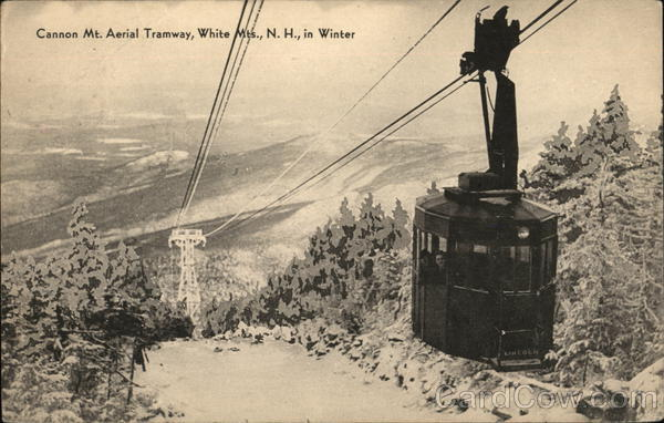 Cannon Mt. Aerial Tramway, White Mountains, In Winter Franconia New Hampshire