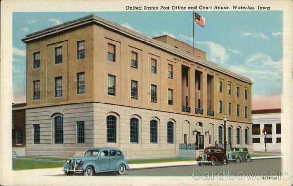 Waterloo (IA) United States  city photo : United States Post Office and Court House Waterloo, IA Postcard