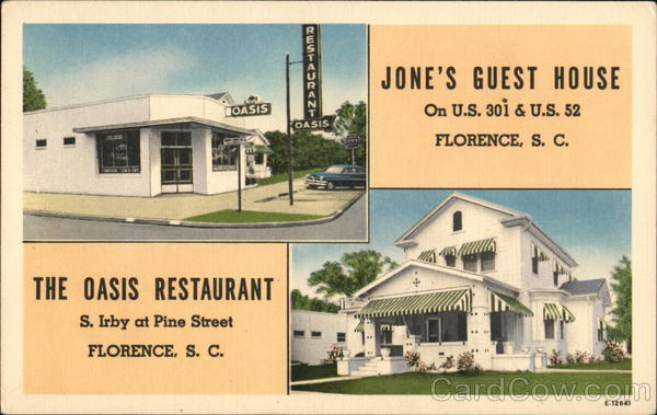 Jones Guest House and The Oasis Restaurant Florence South Carolina