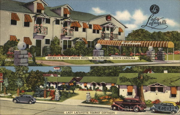 Lady Lafayette Hotel and Tourist Cottages Walterboro South Carolina