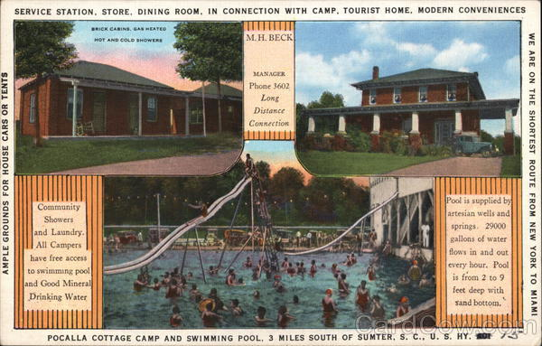 Pocalla Cottage Camp and Swimming Pool Sumter South Carolina