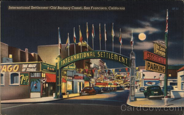 International Settlement (Old Barbary Coast) San Francisco California