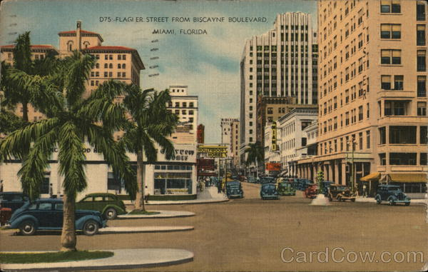 Flagler Street from Biscayne Boulevard Miami Florida