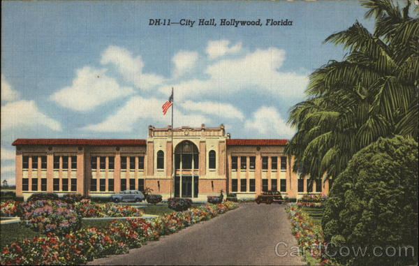 City Hall and Gardens Hollywood Florida