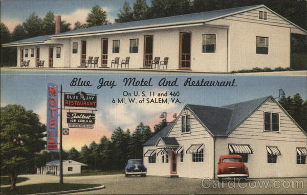 Blue Jay Motel and Restaurant Salem Virginia