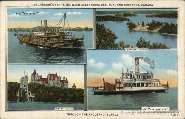 Hutchinson's Ferry Between Alexandria Bay, N. Y. and Rockport, Canada