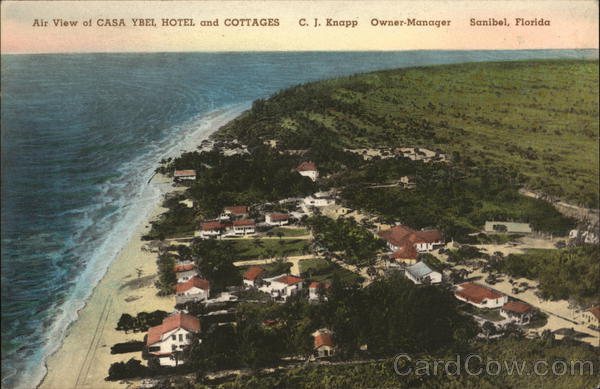 Air View of Casa Ybel Hotel and Cottages Sanibel Florida