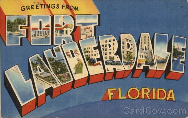 Greetings from Fort Lauderdale, Florida Large Letter