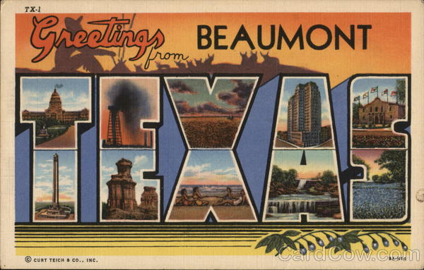 Greetings from Beaumont, Texas Large Letter