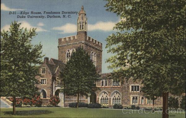 Kilgo House, Freshman Dormitory, Duke University Durham North Carolina