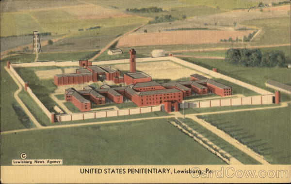 Lewisburg (PA) United States  city images : Bird's Eye View of United States Penitentiary Lewisburg Pennsylvania