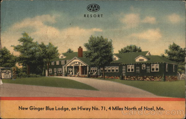 New Ginger Blue Lodge Noel Missouri