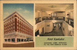 Hotel Kankakee, Showing Lobby Entrance to the New Emerald Room