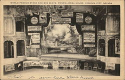 Stage and Box Seats, Piper's Opera House Postcard