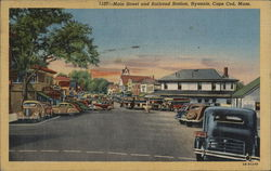 Main Street and Railroad Station, Cape Cod