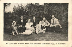 Mr. and Mrs. Amory, Children & Dog