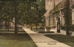 Campus Scene at Ball State College