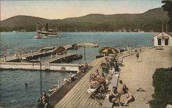 The Sagamore - Landing and Bathing Beach, Lake George