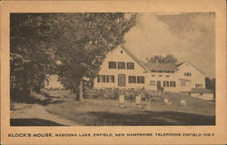 Klock's House, Mascoma Lake Postcard
