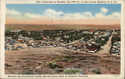 Panorama of City, Alt. 6787 Ft., On The Lincoln Highway (U.S. 30)