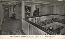 "Bridge Deck Corridor, ""Santa Ana,"" US & Pacific Line"