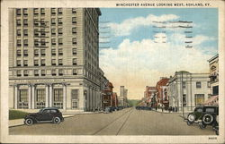 Winchester Avenue Looking West Postcard