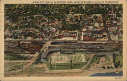 Birds Eye View of Town showing Baseball Field