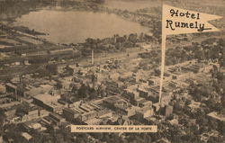 Hotel Rumley, Postcard Air View