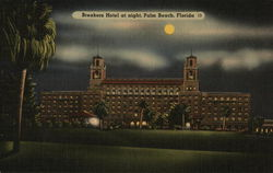 Breakers Hotel at Night Postcard