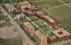 Aerial View of the University of Akron