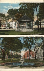 Park and Fountain Postcard