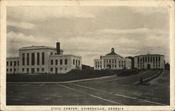 Civic Center and Grounds Postcard