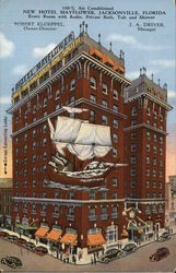New Hotel Mayflower Postcard