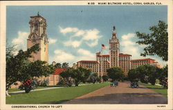 Miami Biltmore Hotel - Congregational Church to Left