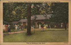 View of Bathhouse From Beach, Wakulla Springs Lodge