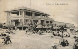 Crowd at Pavilion and Beach