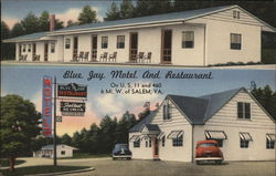 Blue Jay Motel and Restaurant Postcard
