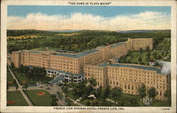 "French Lick Springs Hotel, ""The Home of Pluto Water"""