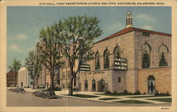 City Hall, First Presbyterian Church and Civic Auditorium