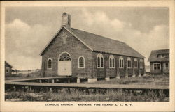 Catholic Church Saltaire Postcard