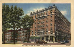 View of Evanshire Hotel Postcard