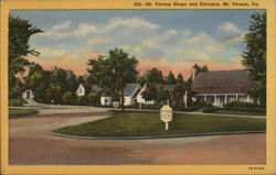 Mt. Vernon Shops and Entrance Postcard